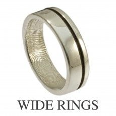 Offset modern line ring