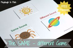 Free printable pre-K reading game! Helps kids learn to notice the first and last sounds of words.