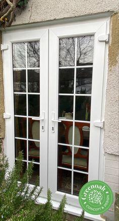 Liniar French Doors. Leigh-on-Sea Essex Upvc Windows, Sash Windows, Windows And Doors, External Cladding, Leigh On Sea, Window Glazing, Window Replacement, Composite Door, Exterior Trim