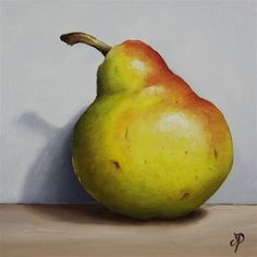 """Daily Paintworks - """"Blush Pear Shadow"""" by Jane Palmer"""