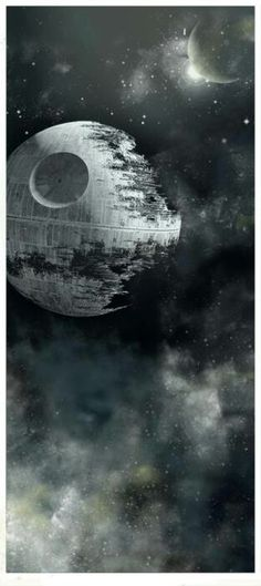 "Star Wars - Death Star under construction It's funny, I was 11 when the ""Original"" STAR WARS(now ""A New Hope"" Waaaaay before VHS,DVD or BlueRay & Was a Jr in High School when THIS Death Star debued... some 30 yrs ago!❗️"