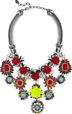 Erickson Beamon Swarovski necklace.