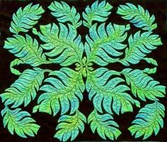Martha Marques, 'Fertility' - Hawaiian Quilt. All by hand & dyed herself.