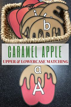 My kindergartners and preschoolers love working with this fun apple set to match upper and lowercase letters.  A great addition to my language center!