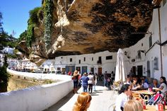Setenil de las bodegas, an amazing rock village in Cadiz (Andalusia, Spain) Places Around The World, Around The Worlds, Cadiz Spain, Spanish Towns, Photo Essay, Adventure Is Out There, Places To See, Street View, Europe