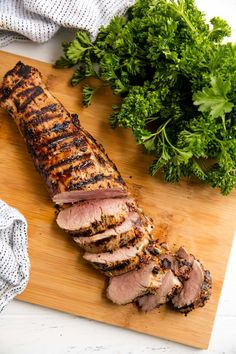Perfectly Juicy Grilled Pork Tenderloin Perfectly Juicy Grilled Pork Tenderloin requires just a few ingredients and a few minutes of prep for the juiciest, flavorful pork tenderloin straight off the grill. Bbq Pork Tenderloin, Pork Fillet, Pork Ribs, Recipe For Grilled Pork Tenderloin, Grilled Pork Roast, Pork Chops, Grilling Recipes, Pork Recipes, Cooking Recipes