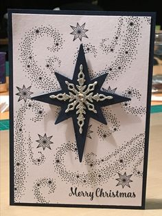 Stampin Up - Star of Light Christmas card 2016