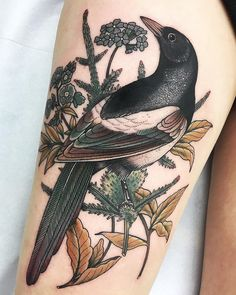 """3,068 mentions J'aime, 28 commentaires - ⠀⠀⠀⠀⠀⠀⠀⠀⠀⠀***Fabien Grezyn*** (@fabingtattoo) sur Instagram : """"Magpie on Agathe at @artribal_tatouages LYON. *** For info or booking  Fabingtattoo@gmail.com ***…"""""""