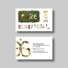 Arbonne Business card design and Business cards on Pinterest