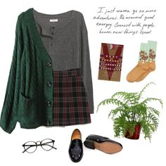 Untitled #126 black long sleeve, bee mini skirt, black oxfords, and knit sweater