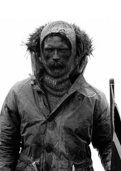 cromoparadise: mpdrolet: From Polar Expedition Yves Borgwardt Nigel Cabourn Old Photos, Vintage Photos, Cyberpunk, Image Maker, Arctic Explorers, Nigel Cabourn, Art Of Manliness, Roll Neck Sweater, Moustaches