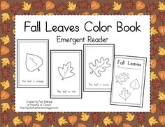 Fall Leaves Color Book {Emergent Reader} $1.50