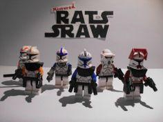 Lego Star Wars minifigures - Clone Custom Rex,501st Pilot,Cody,212th,Fox,ARF