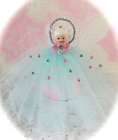 Vintage Retro Style Aqua & Pink Christmas by MarshmallowCreations, $35.00