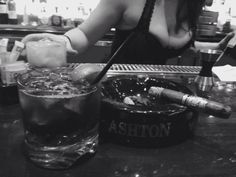 Jack Daniels and A. Fuente Hemmingway at Casa Fuente Cigars in Las Vegas