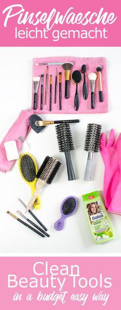 Tools für MakeUp, Rouge, Eyeshadow, Highlighter, Lidstrich, Puder... benötigen Pflege und hygienische Reinheit. Wie reinigt ma seine Pinsel, Schwämmchen, Beautyblender und Haar-Bürsten effektiv, schnell und preiswert? Wie oft reinigt ihr eure