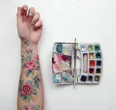 not a tattoo, but lovely body art. Tattoo Main, 16 Tattoo, Tatoo Art, Art Hoe, Art Plastique, Painting & Drawing, Arm Drawing, Artist Painting, Art Inspo