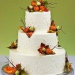 Fall Themed Wedding Cakes
