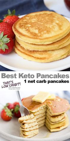 The Best Keto Pancakes recipe that has ever been made in our household! Just this keto pancake mix is so easy to whip together. Sunday morning pancakes will become a normal here on out. 👉 Try our new program (the 8 week Keto Challenge) is a Ketogenic Recipes, Low Carb Recipes, Real Food Recipes, Healthy Recipes, Crockpot Recipes, Budget Recipes, Healthy Food, Eating Healthy, Carb Free Meals