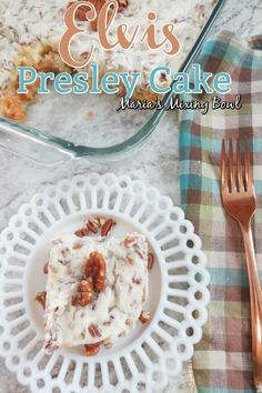 Elvis Presley Cake also know as Jailhouse Rock Cake is a family favorite. So simple and easy to make. Elvis Presley Cake also know as Jailhouse Rock Cake is a family favorite. So simple and easy to make. Cake Mix Desserts, Cake Mix Recipes, Pound Cake Recipes, Cheesecake Recipes, Easy Desserts, Delicious Desserts, Dessert Recipes, Cake Flavors, Cupcakes