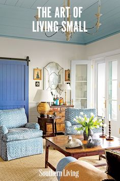 Enjoy seeing the subtleties of a limited color palette, how architectural details can help to create space, and how a simple understanding of where and how you choose to live can help you master the art of living small. #cottage #houseideas #downsized #smallspaceliving #southernliving