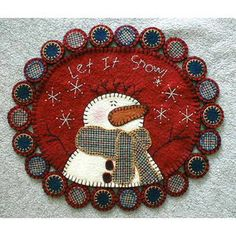 Let It Snow Pennyrug By Sew Unique Creations , Wool/Penny Rug Patterns | Quilterswarehouse