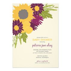 Wildflowers Shower Invitation
