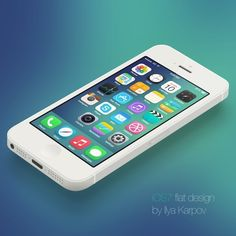 iOS 7 Flat Design by Ilya Karpov