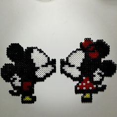 Mickey and MInnie Mouse perler beads by tonis39