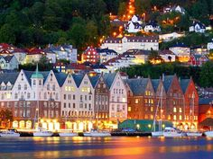 The unique houses of Bergen, Norway are unique to the region.