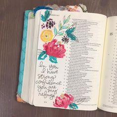 Bible Journaling and art Best Bible Verses, Scripture Verses, Brush Lettering, Hand Lettering, Calligraphy For Beginners, Words Of Wisdom Quotes, Illustrated Faith, Jesus Loves You, Verse Of The Day