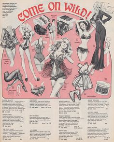 """thepieshops: """" Come On Wild! 1973 Frederick's of Hollywood catalog """""""
