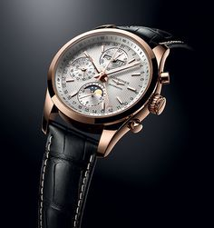 Longines Conquest Classic Moonphase Watch - see Ariel's writeup in Departures… Dream Watches, Fine Watches, Cool Watches, Swiss Luxury Watches, Luxury Watches For Men, Moonphase Watch, Longines Watch Men, Watches Photography, Skeleton Watches