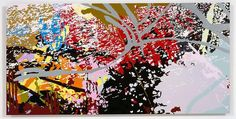 INGRID CALAME From #210 Drawing (Tracings up to the L.A. River), 2007 enamel paint on aluminum 24 X 48 inches