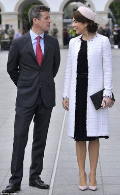 A royal visit: Frederik Crown Prince of Denmark and his wife Crown Princess Mary during the Tomb of the Unknown Soldier visit as part of his Poland visit on May 12 in Warsaw
