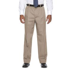 Big & Tall Croft & Barrow® Straight-Fit Easy-Care Stretch Pleated Dress Pants, Men's, Size: 38X36,