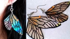 DIY: Fairy Wings Earrings // Recycle DVDs
