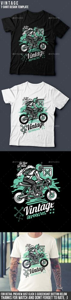 Vintage T-Shirt Design  — EPS Template #classic #cloth • Download ➝ https://graphicriver.net/item/vintage-tshirt-design/18074879?ref=pxcr