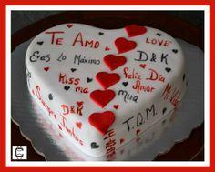 FONDANT VALENTINE´S HEART CAKE / PASTEL DE CORAZON PARA SAN VALENTIN CON MENSAJES