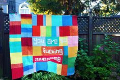 my quilt and sofa king worlds collide! love this quilt!!