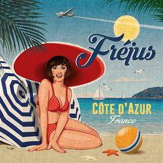 Decoupage in Perm Vintage Labels, Vintage Ads, Vintage Images, Pin Up, Vintage Beach Posters, Tourism Poster, Old Commercials, Paris Images, Geek Art