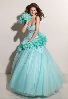 Turquoise Ball Gown for Prom