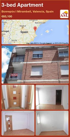3-bed Apartment in Bonrepòs I Mirambell, Valencia, Spain ►€83,100 #PropertyForSaleInSpain