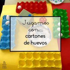 A través del reciclaje en casa o en la escuela podemos crear este divertido juego para Infantil, para aprender matemáticas con hueveras.