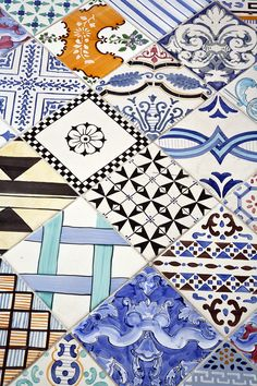 Capri Tiberio Palace is one of my favorite hotels - I have so many snaps of the colourful tiles. I often reference back to those photos when working on new fabric prints.
