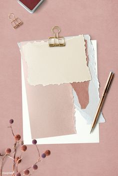 Blank torn pink paper templates set with a paperclip Et Wallpaper, Framed Wallpaper, Pastel Wallpaper, Iphone Wallpaper, Fond Design, Web Design, Cadre Design, Instagram Frame Template, Polaroid Frame