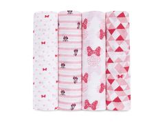 aden by aden and anais Muslin Swaddle Blanket Minnie Mouse Pack Of 4