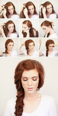 Summer side braid - Treccia laterale, trend estate 2015