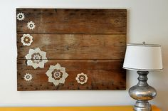 Wood Art Idea Using Pallet or Lumber Boards and Transferring Images + Staining