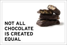 Not all chocolate is created equal. The majority of chocolate on our shelves are loaded with white refined sugars and processed dairy from factory farms. Equality, Chocolate, Create, Desserts, Food, Social Equality, Tailgate Desserts, Deserts, Essen